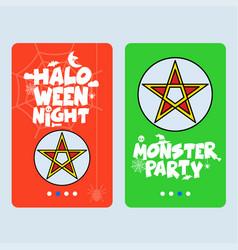 happy halloween invitation design with star vector image