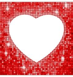 Heart shaped frame vector