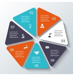 Heptagon for infographic vector