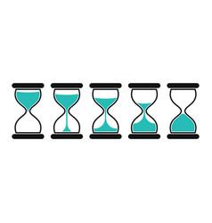 hourglass icons set vector image