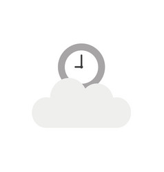 icon concept of clock on cloud vector image