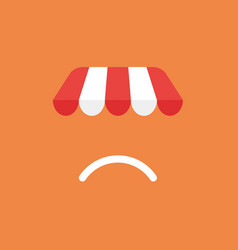 Icon concept of shop store awning with sulking vector
