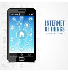 Internet of things phone vector