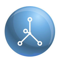 Ionic bond icon simple style vector