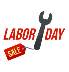 key tool labor sale logo icon flat style vector image