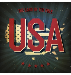Land of the free usa poster vector