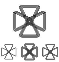 Line loop science logo design set vector