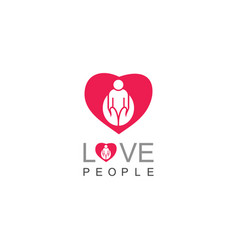 Love people care logo vector