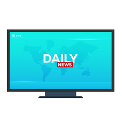 Mass media daily news banner live tv show vector