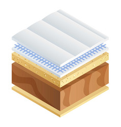 Mattress section icon isometric style vector