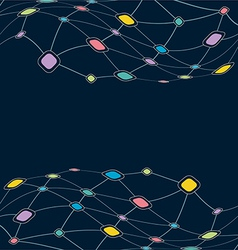 Network color technology communication background vector image
