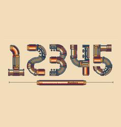 numbers typography monochrome vintage machine vector image