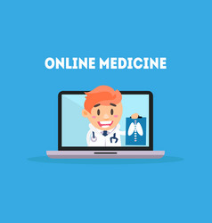 online medicine banner template online medical vector image