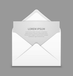 Opened envelope with blank paper latter vector image vector image