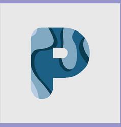 P water font template design vector