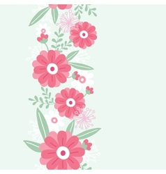 Peony flowers and leaves vertical seamless pattern vector image vector image