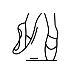 pointe shoes line icon concept sign outline vector image