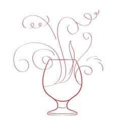 Red wine splash isolated vector