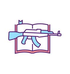 Religious violence rgb color icon vector