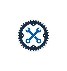 repair bike logo icon design vector image