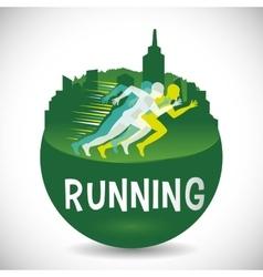 Runner athlete running design vector
