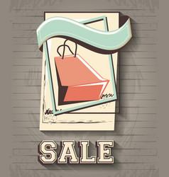 sale label style retro vector image