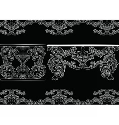 Set of Baroque Vintage Furniture and Frames vector