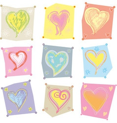Several hearts vector image