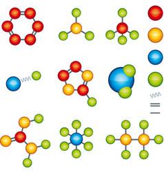 Shiny molecule modules system editable parts vector