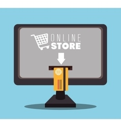 Shopping and digital marketing vector image