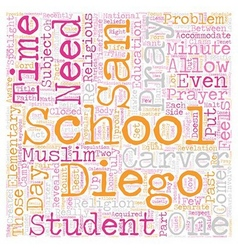 Should san diego schools students pray text vector