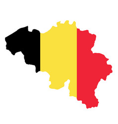 silhouette country borders map of belgium on vector image