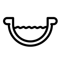Steel gutter icon outline style vector