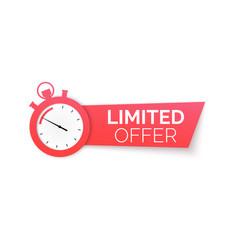 Stopwatch with special offer limited time offer vector