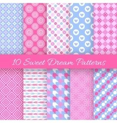 Sweet dream seamless patterns vector image