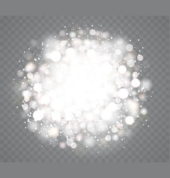 transparent glowing snow effects with sparkles vector image
