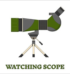 Travel Scope Birdwatching Line Art Icon vector image