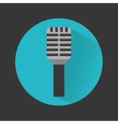 Tv microphone isolated icon vector