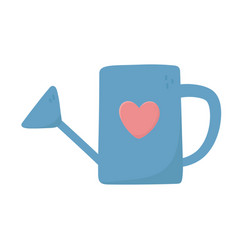 watering can heart love on white background vector image