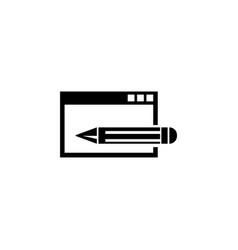 website editing frontend and backend flat icon vector image