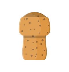 Wine wooden cork vector