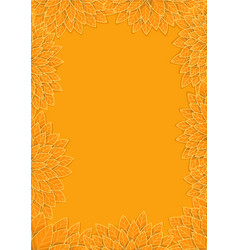 Yellow autumn leaves frame background vector