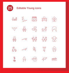 Young icons vector