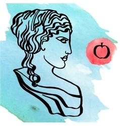 ancient Greek goddess vector image