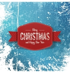 Christmas paper greeting Card on Snow Background vector image vector image