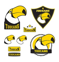 Set of toucan logos vector image