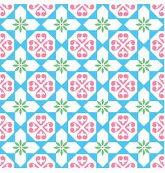 spanish tiles pattern seamless design vector image vector image