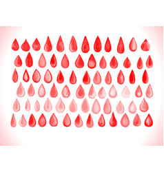 blood drop set vector image