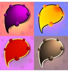 Bright Colourful Speech Bubbles Set vector image