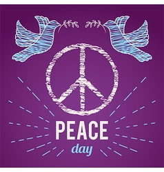 international peaceday poster vector image
